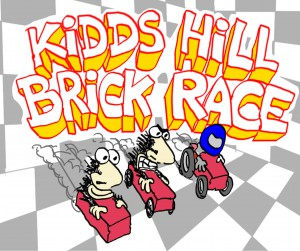 Brick Race Sign